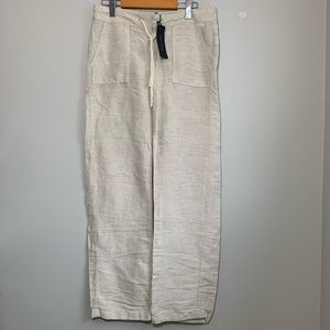 Women's Tommy Hilfiger Sz2 Drawstrin Linen Pants